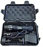 LED Tactical Flashlight - Outdoor Flashlight - Adjustable Focus, Water Resistant, Multi-Switch Aircraft Grade Aluminum LumiTact Tactical G700 Flashlight