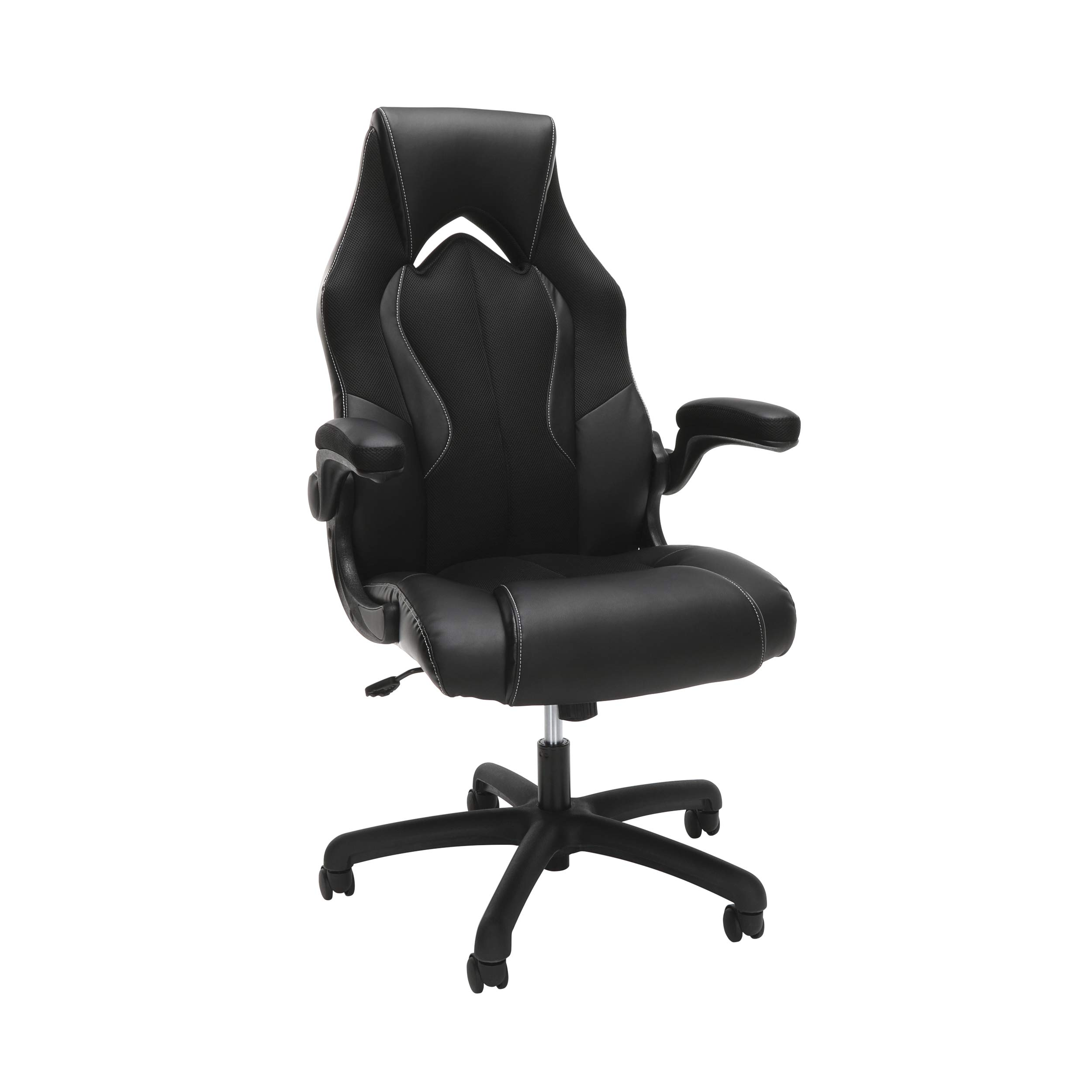 OFM Essentials Collection High-Back Racing Style Bonded Leather Gaming Chair, in Black (ESS-3086-BLK) by OFM