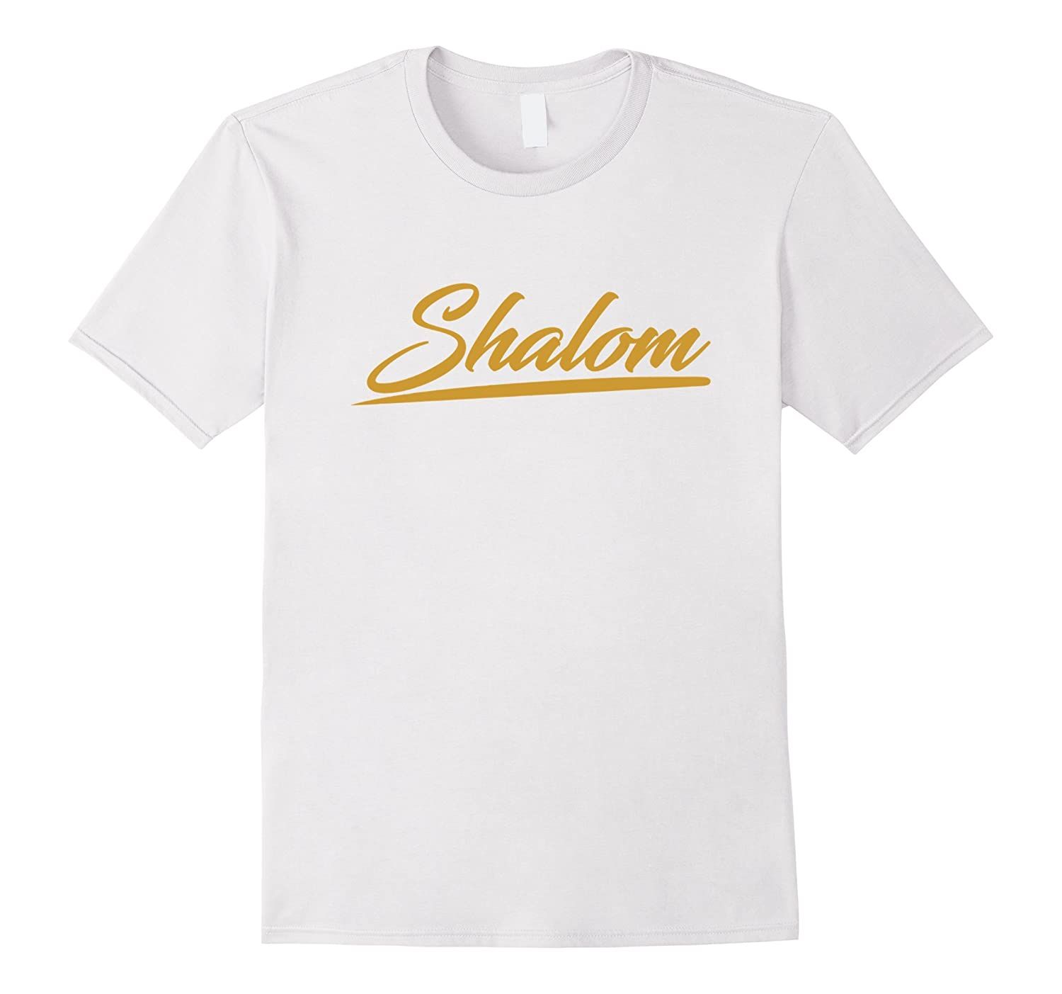 Gold Shalom T-shirt Hebrew Israelites Messianic Yahshua-Vaci