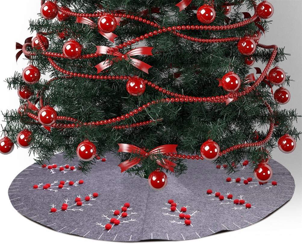Amosfun Falda del /árbol de Navidad 120cm Nieve Suave decoraci/ón del /árbol de Vacaciones decoraci/ón de la Cubierta del /árbol de Navidad decoraci/ón del Partido en casa