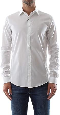 Calvin Klein K10K103109 Camisa Hombre Blanco 43: Amazon.es: Ropa y accesorios