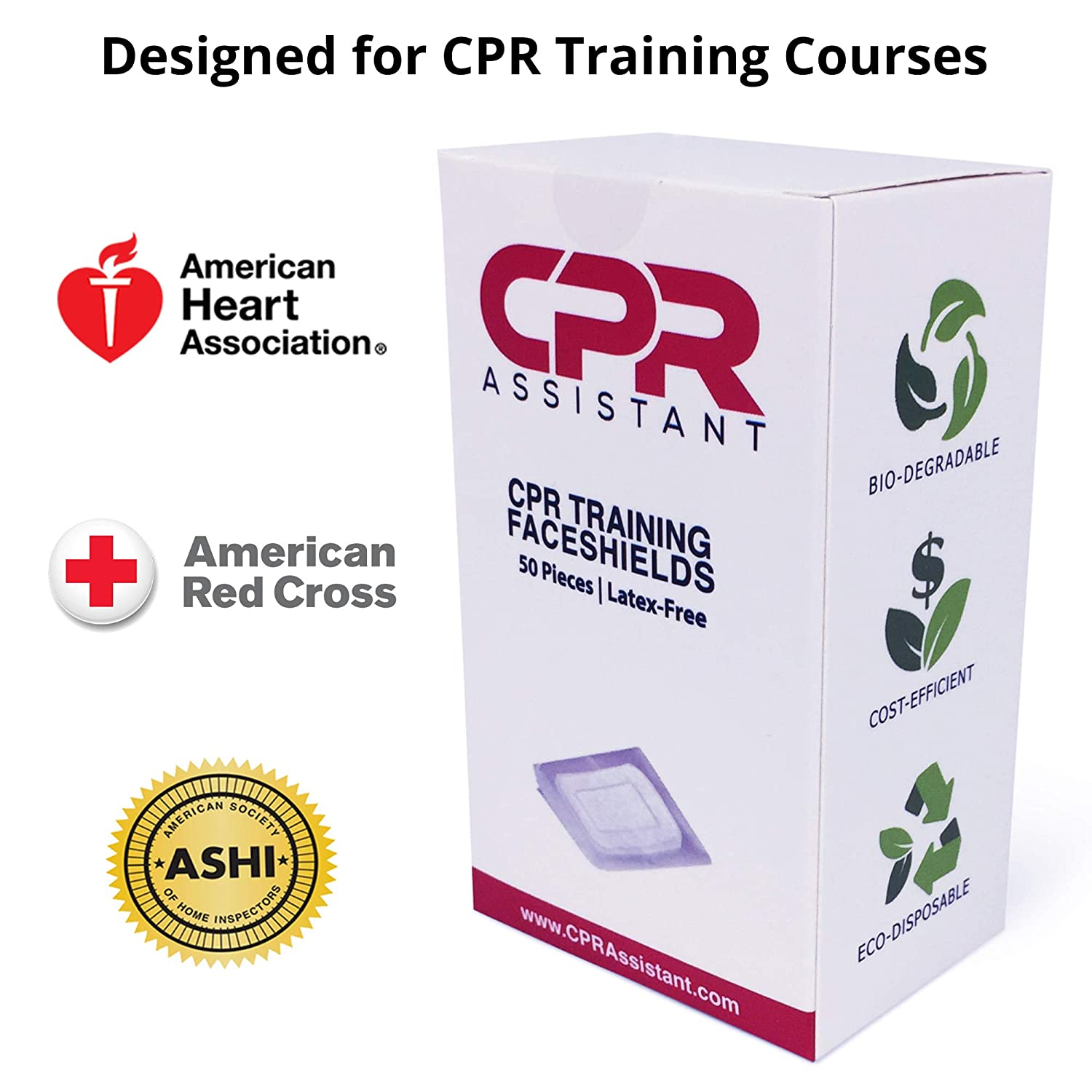 Amazon.com: CPR Training Faceshield for CPR First Aid (50 ...