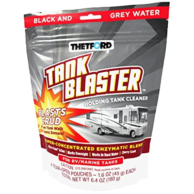 Thetford 96527 Blaster Holding Tank Cleaner Pouches, 1.6 oz, White (Pack of 4): Automotive
