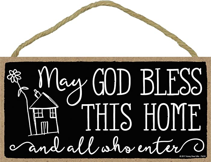 Top 8 God Bless All Who Enter This Home Sign