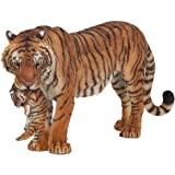 Papo - 50118 - Figurine - Animaux - Tigresse et son Bébé
