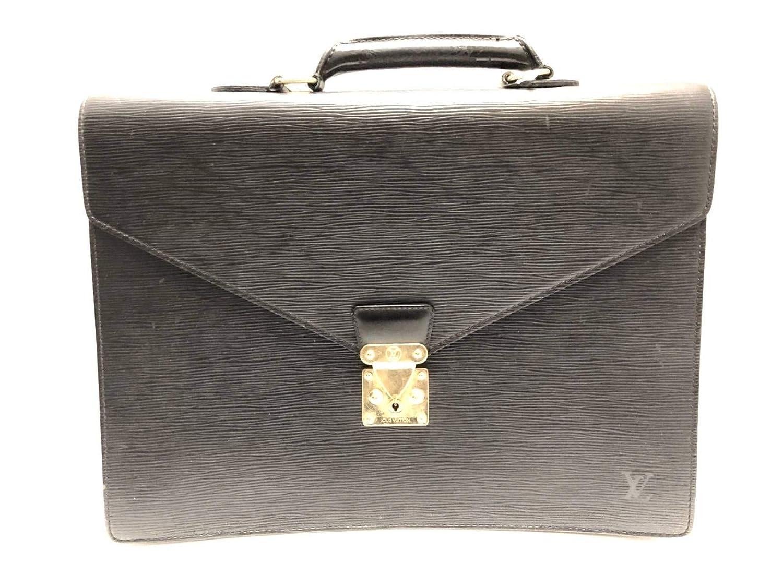 (ルイヴィトン)LOUIS VUITTON ビジネスバッグ セルヴィエットアンバサダー ノワール M54412 【中古】   B07LG51VMK