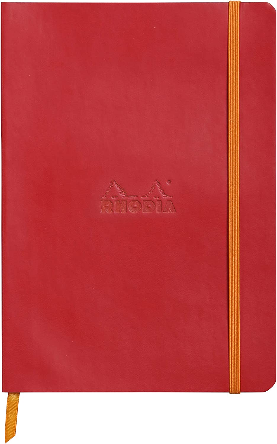 Rhodia Rhodiarama SoftCover Notebook - 80 Dots Sheets - 6 x 8 1/4 - Poppy Cover
