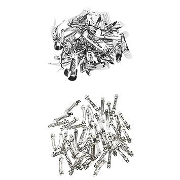 Amazon.com: Magideal 100 piezas Metal plateado Clips de pelo ...