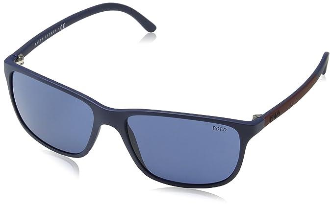 Polo Uomo 0PH40920680 Occhiali da sole, Blu (Matte Bluee/Bluette), 58