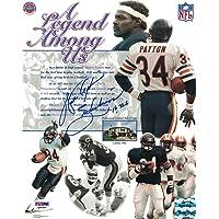 $149 » Walter Payton Autographed Chicago Bears 8x10 Photo Sweetness 16,726 PSA