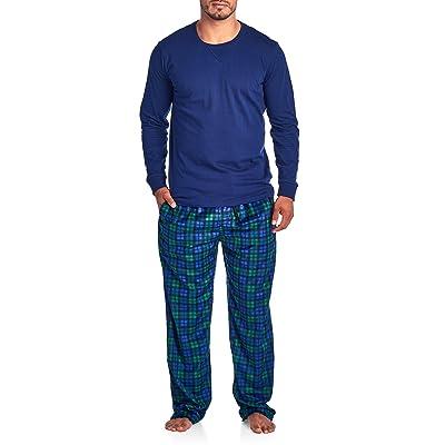 20923b4fa Ashford   Brooks Men s Jersey Knit Long-Sleeve Top and Mink Fleece ...