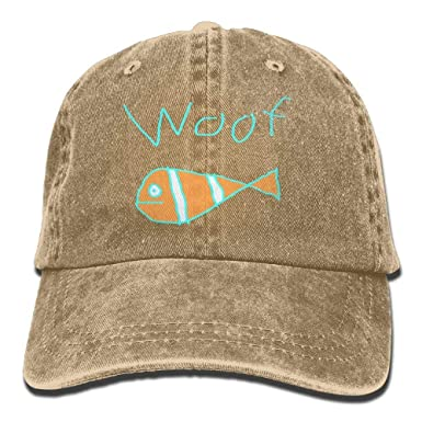 sunyly Baseball Jeans Cap Woof The Fish-1 Men Snapback Casquettes ...