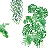 Amaonm Ceative Removable Green Plant Wall Stickers DIY Green Leaves Wall Decals Hanging Tree Vine Wall Decor for Living…
