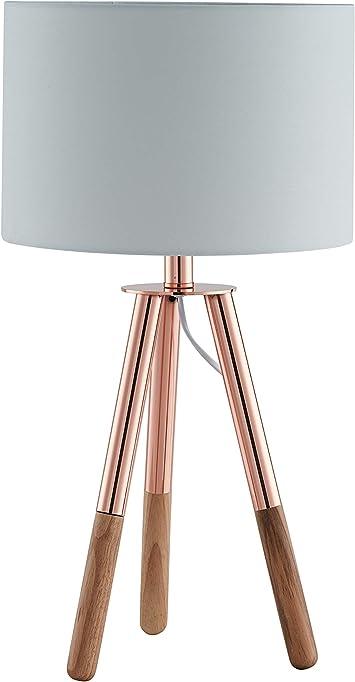 Lámpara de sobremesa SalesFever, lámpara de mesa, metal y madera ...