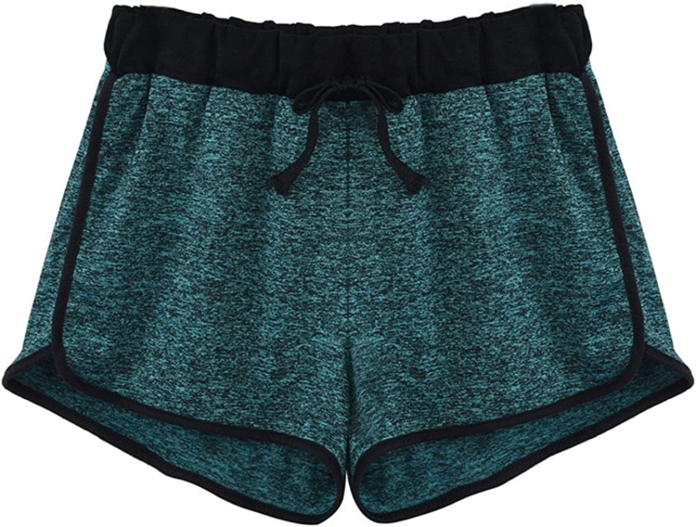 Yeyamei Yoga Shorts for Women Sexy,Quick-Dry Distrawing Loose Running Shorts Sports Workout Shorts Gym Athletic Shorts