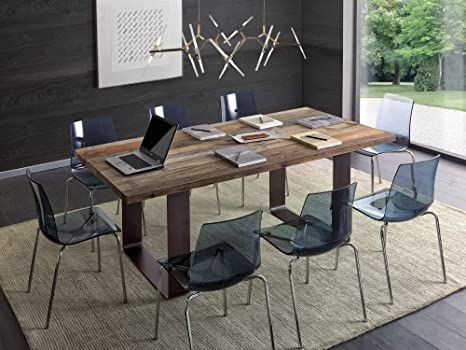 TAVOLO Rettangolare soggiorno cucina legno massello Ontano cerato ...