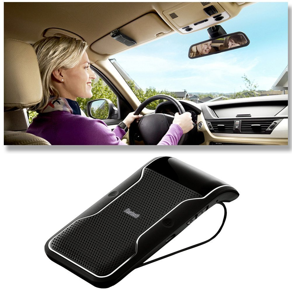 Car Speakerphone Sunvisor: Findway® Wireless Bluetooth Visor Multipoint Handsfree Speakerphone Car kit for iPhone, Samsung, HTC, Sony and all other Bluetooth Smartphones by findway (Image #2)