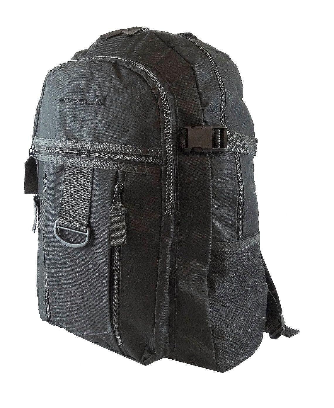 fac78ea077 Mens Boys Backpack Rucksack Sports Work Gym School Travel Hiking Man Bag  Pockets (Black/Black): Amazon.co.uk: Clothing