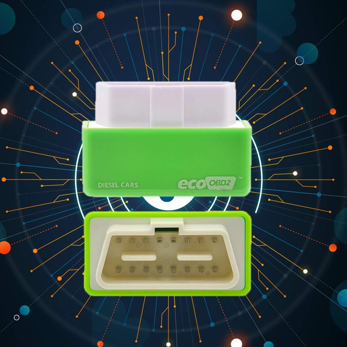 Corneliaa Microprocesador de adaptaci/ón de la Caja del ahorrador del Combustible de la econom/ía de Eco OBD OBD2 para el Ahorro de la Gasolina del Coche de Gasolina