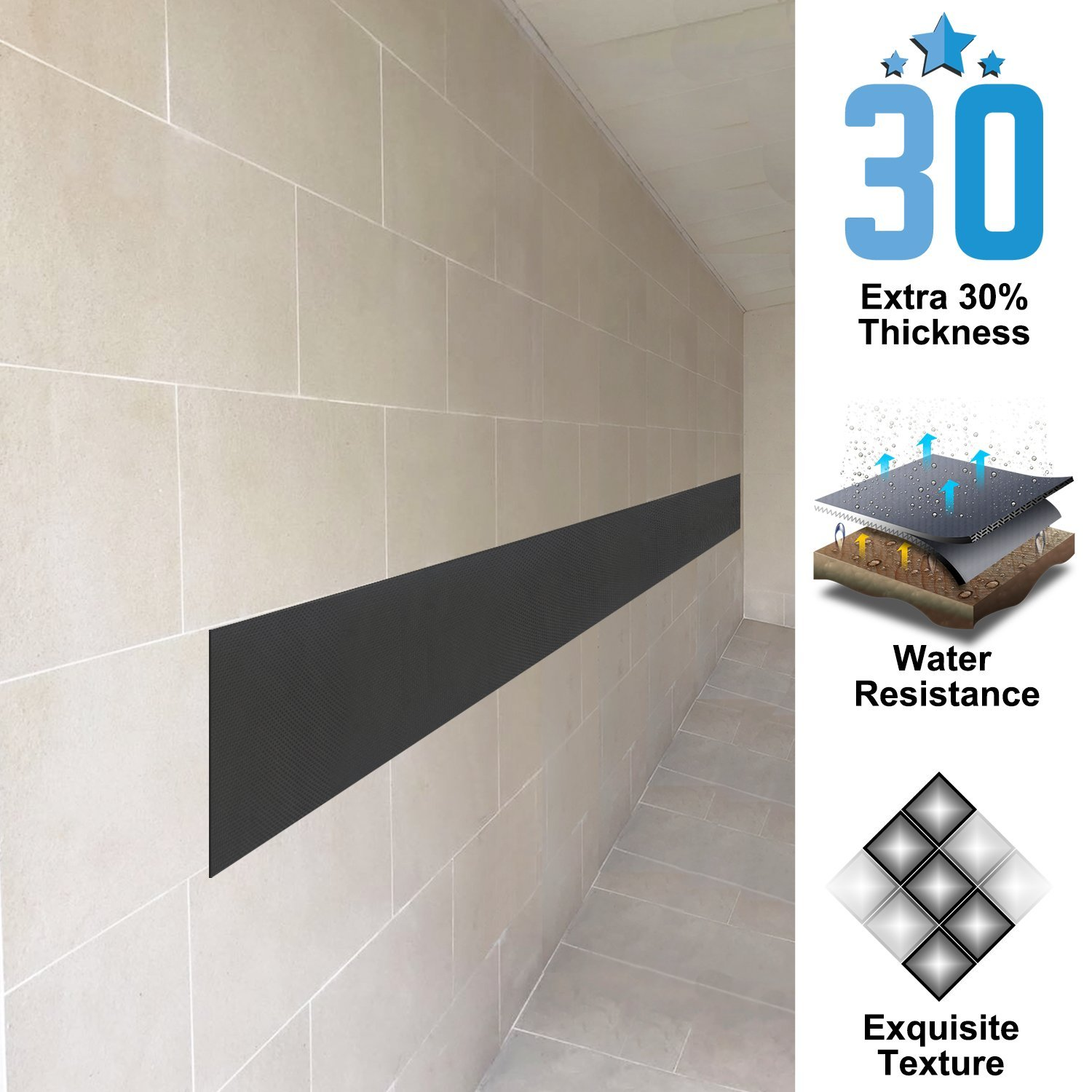 Amazon ampulla super thick water resistance garage wall amazon ampulla super thick water resistance garage wall protector designed in germany 2 pieces in one roll 16 thickness automotive rubansaba