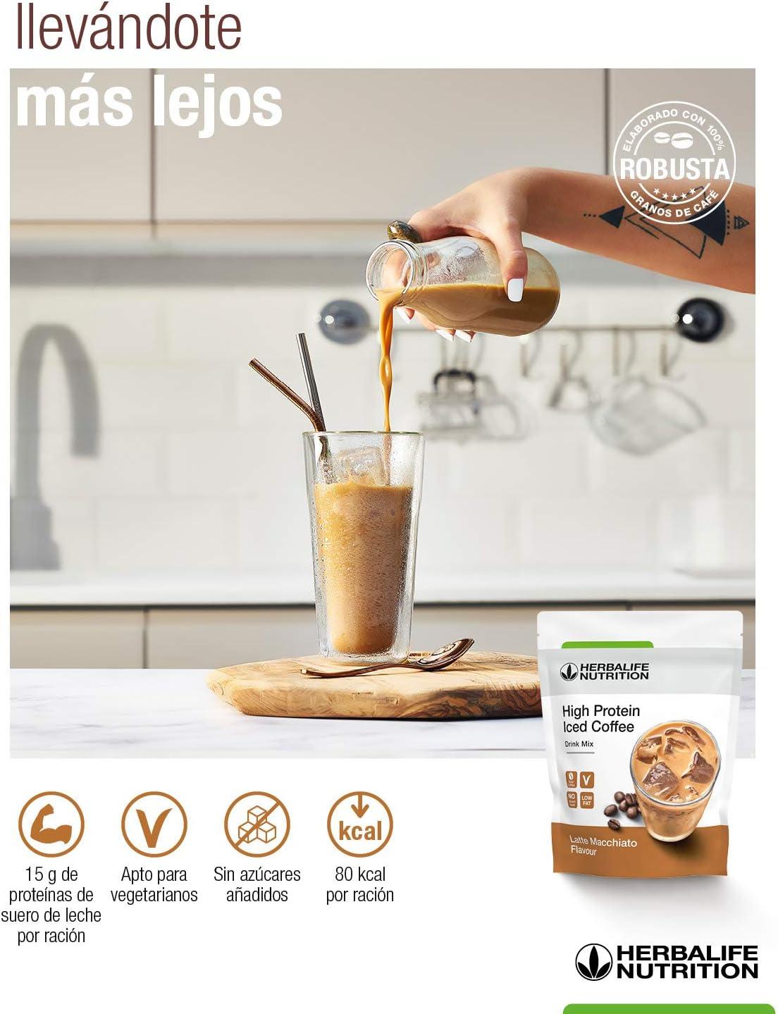 Herbalife - Proteina sabor a Café Helado - High Protein Iced ...
