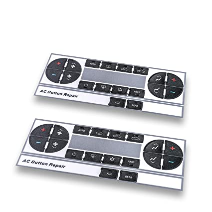 (Upgraded Plastic) AC Dash Button Repair Kit, Control & Radio Button  Replacement Decal Stickers - Fix Worn or Paint off Buttons - Fit for Chevy