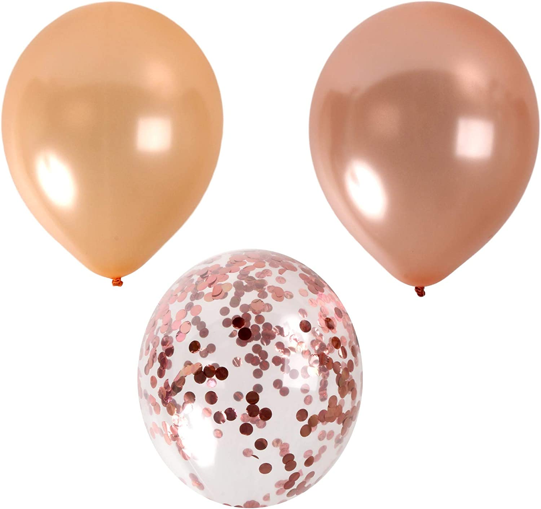 Copper Confetti Balloon Confetti Toss Wedding Ceremony Exit Gold or Silver Gender Reveal Bachelorette Champagne Metallic Confetti