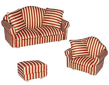 Unbekannt 3 Tlg Set Miniatur Wohnlandschaft Sofa Couch Sessel