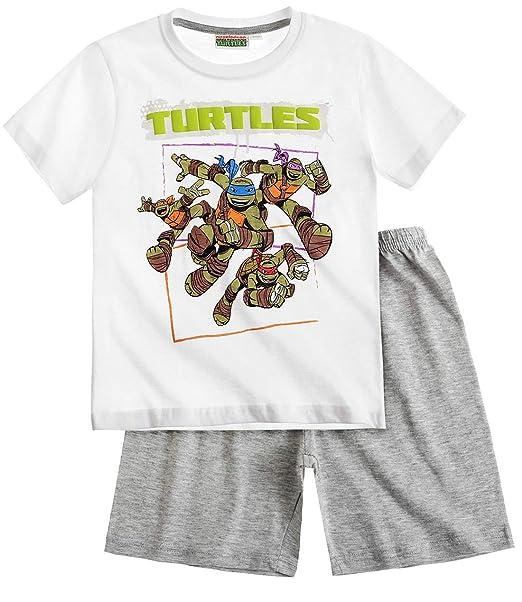 Pijama Corto para niño Tortugas Ninja Blanco/Gris de 6 a 12 ...