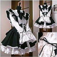 Dames Maid Outfit Anime Lange Jurk Zwart en Wit Schort Jurk Lolita Jurken Cosplay Kostuum (Color : Men Size, Size…