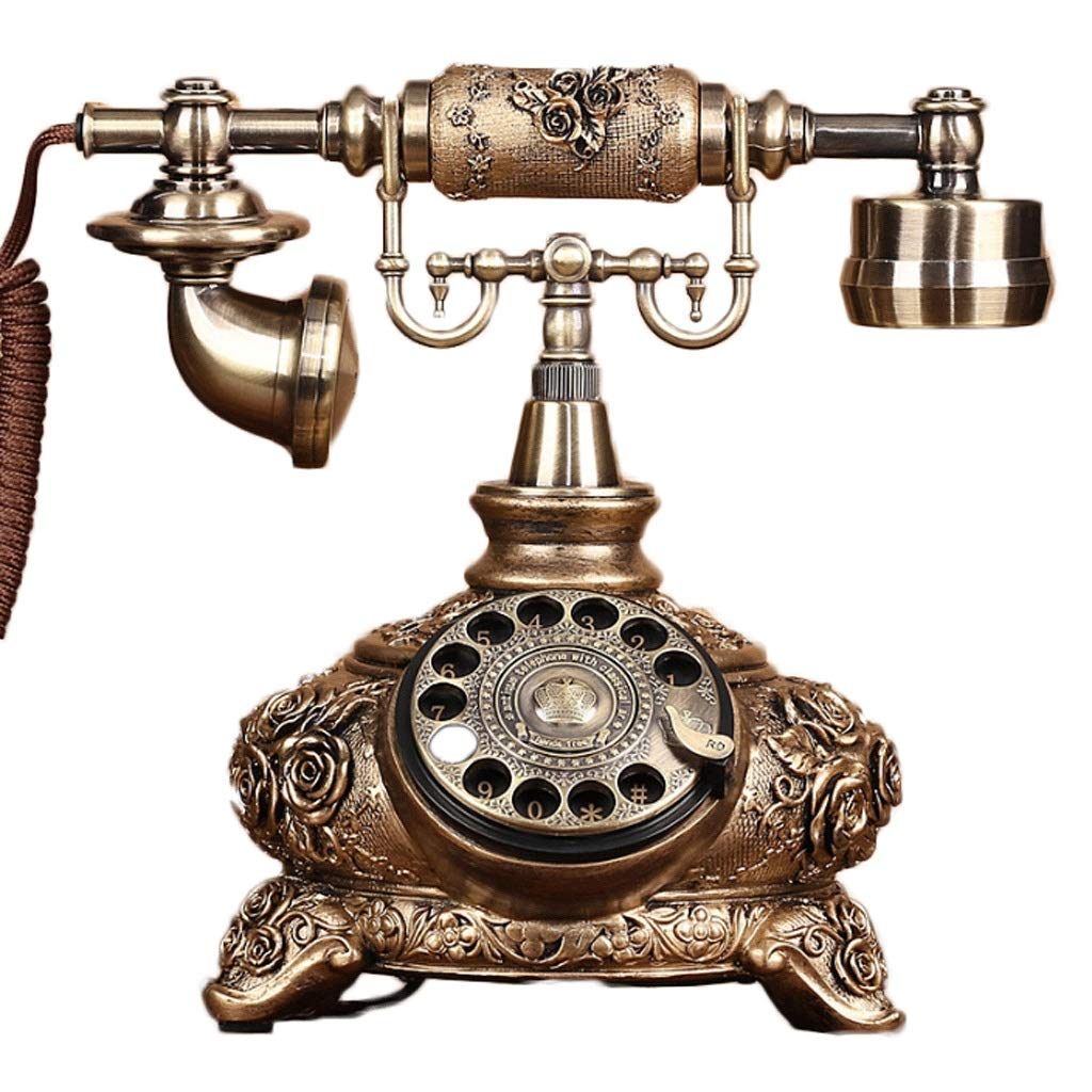 HY ブロンズロータリーダイヤルダブルベル電話、屋内オフィス固定電話に使用 (色 : Bronze Rotary Dial) B07H6P436F Bronze Rotary Dial
