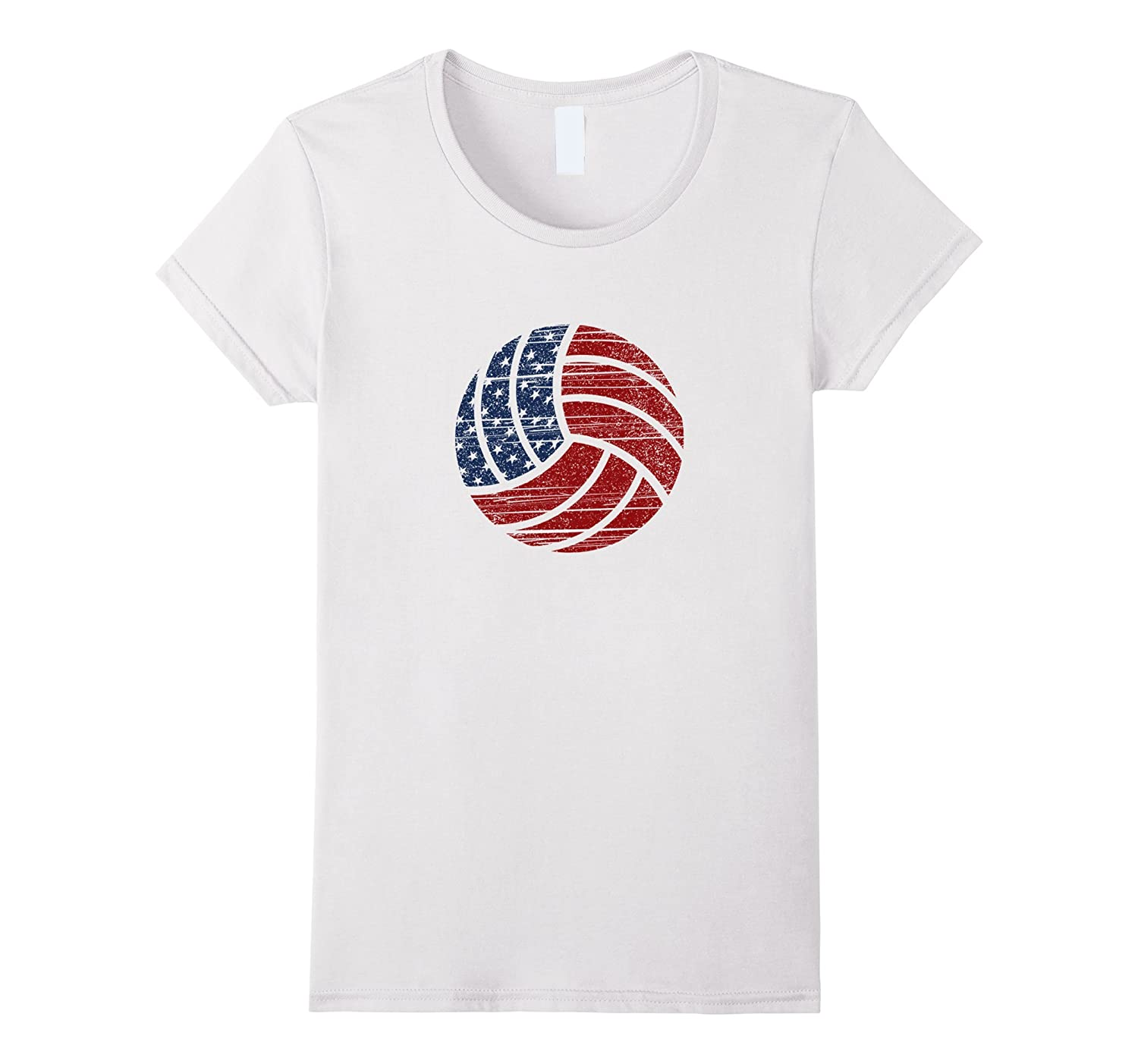 Grunge American Flag Volleyball T-Shirts