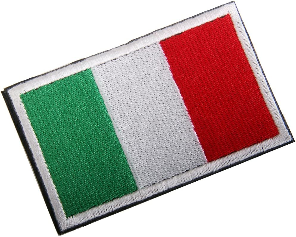 Italia Bandera Italiana Gancho Bordado Táctico Placa De Sujeción De Bucle: Amazon.es: Hogar