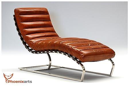 Recamiere Chaiselongue leather vintage chaise longue recamiere design 536 amazon co