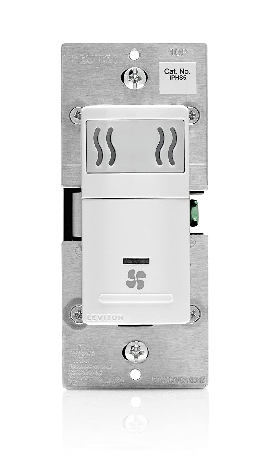 Leviton Iphs5 1lw Humidity Sensor And Fan Control Single Pole Wiring A Ceiling With No Neutral White