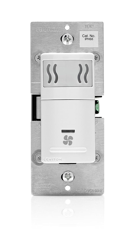 Leviton IPHS5-1LW Humidity Sensor and Fan Control, Single Pole ...