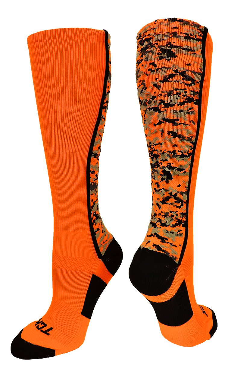 TCKスポーツEliteデジタルCamo Over The Calfパフォーマンスソックス B01M63Y2AD S|Neon Orange/Black Neon Orange/Black S