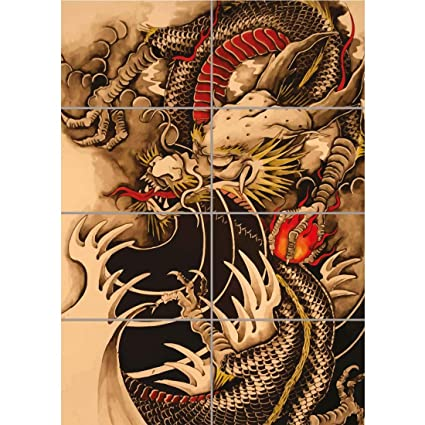 Amazon Com Doppelganger33 Ltd Chinese Dragon Tattoo Giant Poster
