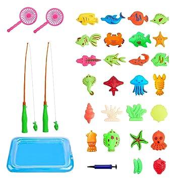 Angelspiel Wasserspiel, 30 Stück Badewannenspielzeug Lernspiel für ...