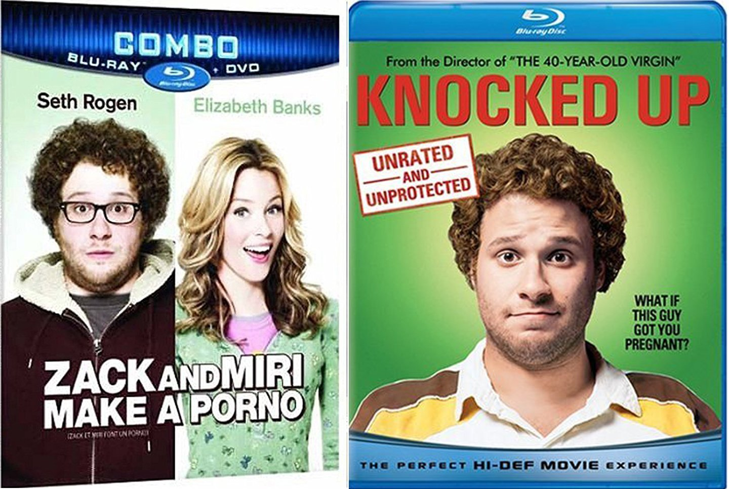 Amazon.com: Knocked Up + Zack & Miri Make a Porno Comedy Feature Blu Ray  Fun Double Feature movie Set Combo Edition Seth Rogen: Katherine Heigl,  Seth Rogen, ...