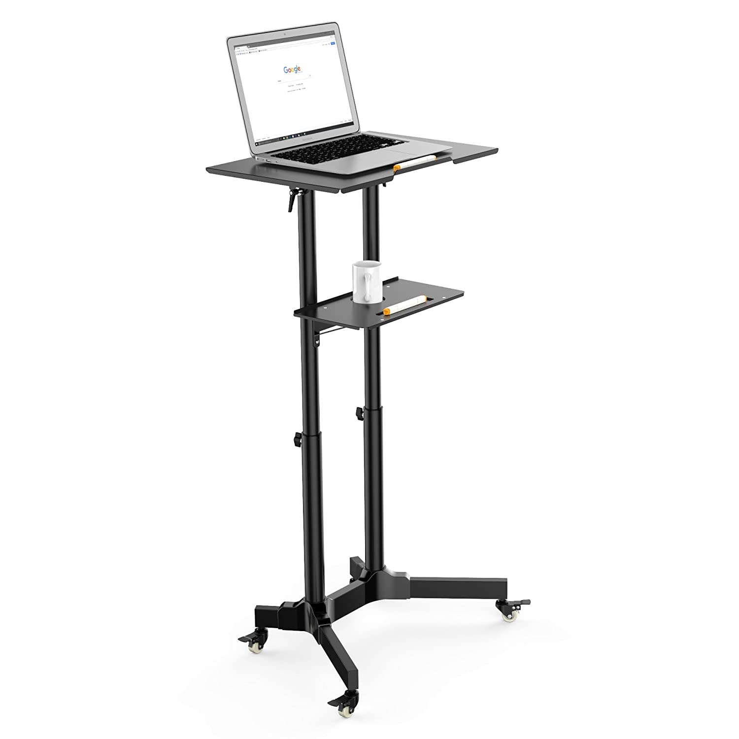 1homefurnit compact mobile stand up computer workstation