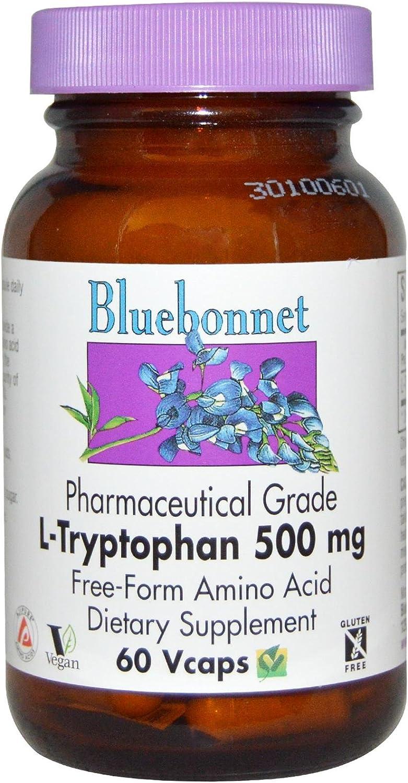 Bluebonnet Nutrition, L Tryptohan 500mg, 60 Veggie Capsules