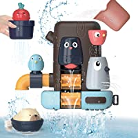 KaeKid Baby Bath Toys, Toddlers Bathtub Toy Games,Baby Toddlers Animal Shower Toys with Suction Cups, Water Toys for…