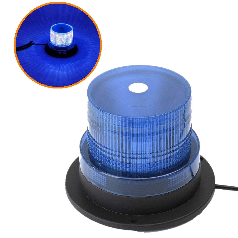 Mioke LED Warnleuchte Warnlicht LED Rundumleuchte Auto Signal Mit 12v Zigarettenanzü nder Stecker Super Magnetfuß  Blitzleuchte (Orange) (orange)
