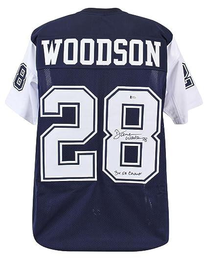 "07a585c9 Cowboys Darren Woodson""3x SB Champ!"" Signed Alt Blue Thanksgiving  Jersey BAS"
