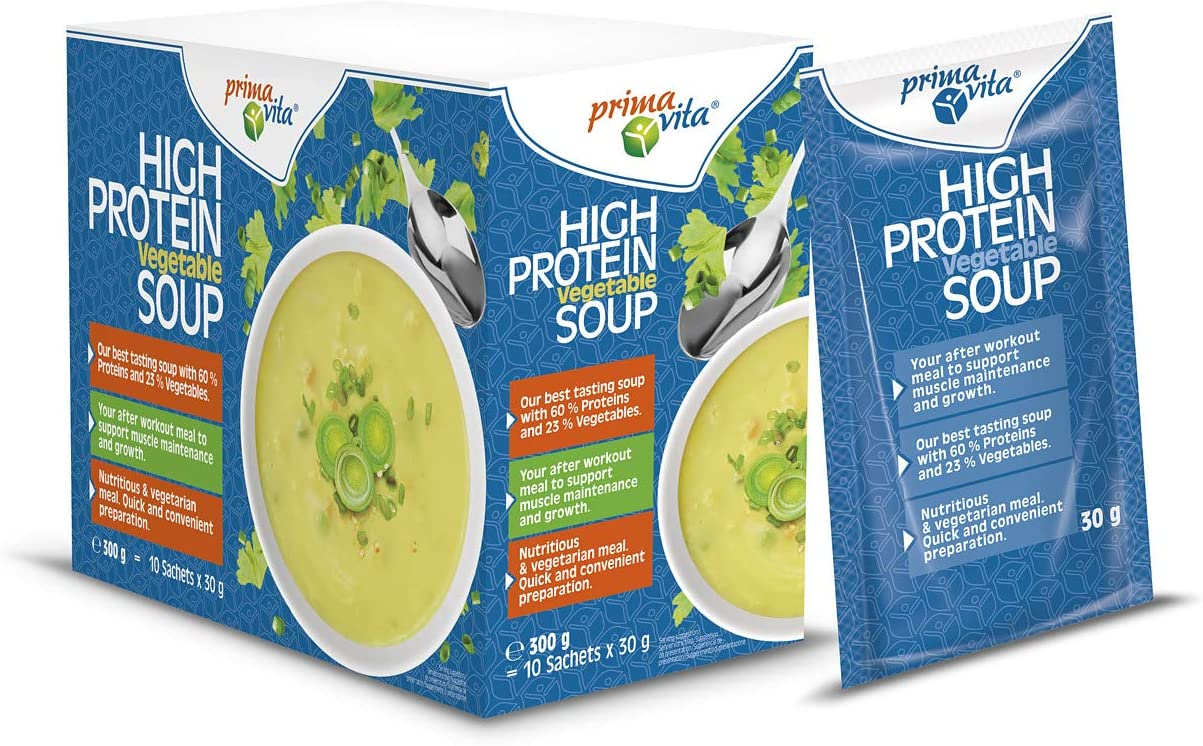Primavita - Sopa de verduras con alto contenido en proteínas, 30 g (10 sobres de ración)