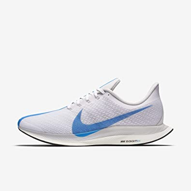 NIKE Mens Air Zoom Pegasus 35 Turbo Running Shoes (13, White/Blue)