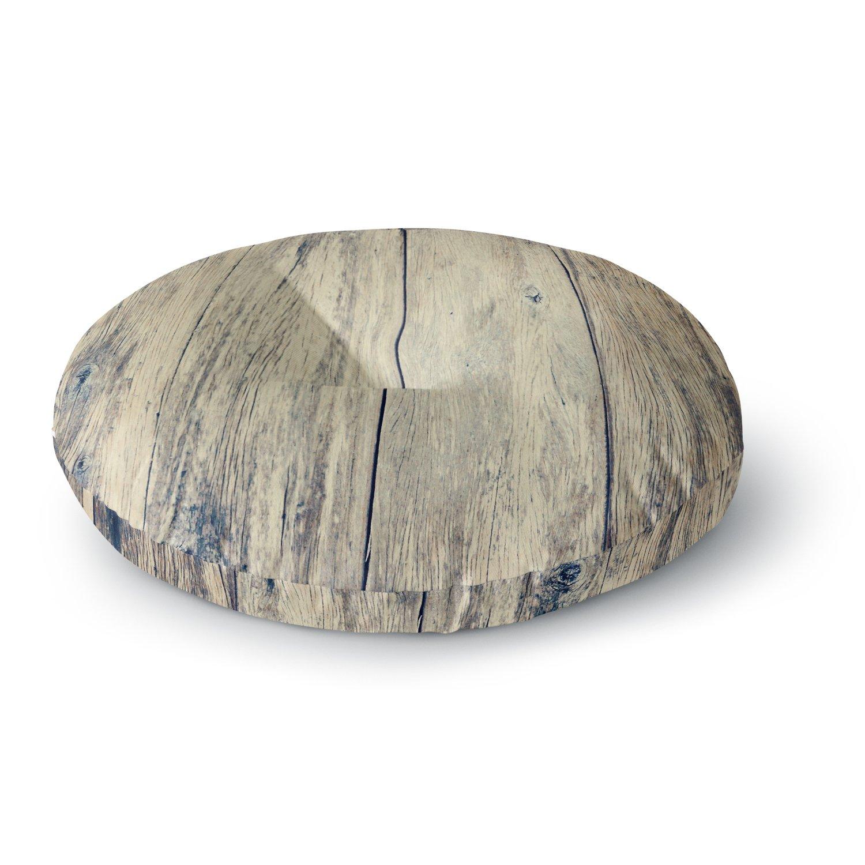 KESS InHouse BE1033ARF02 Beth Engel ''Wood Photography II'' Round Floor Pillow, 26'' X 26'' Round Floor Pillow