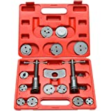 Brake Caliper Piston Compression and Wind Back Set, 18 Piece Kit, Fits Chevy, Toyota, Honda, Ford and Most Domestic and Import Vehicles With Disc Brakes T1A-B1009-A