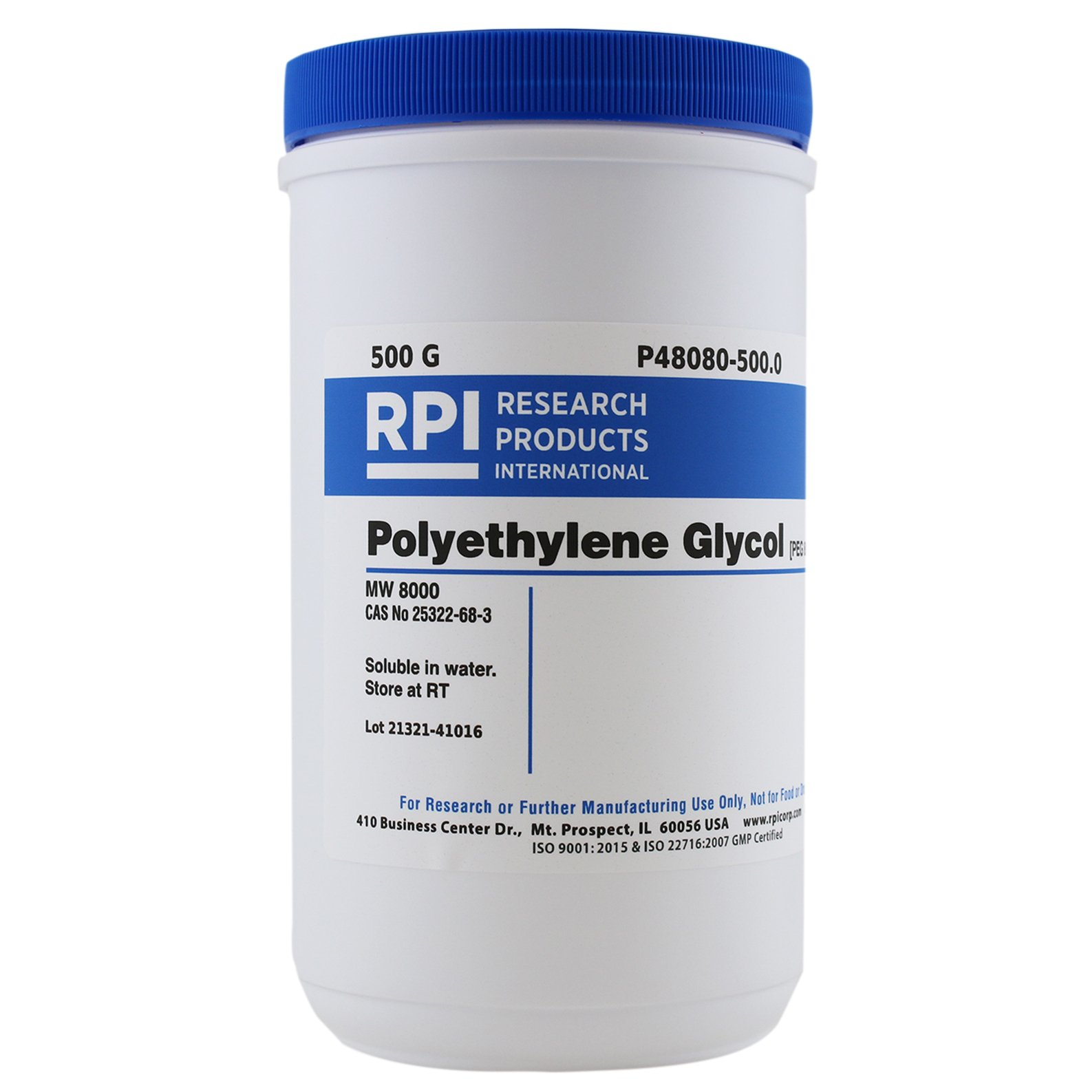 PEG 8000 [Polyethylene Glycol 8000], 500 Grams